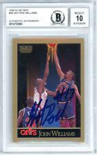 John Hot Rod Williams Autographed 1990-91 Skybox Card Gem 10 Beckett 10733963