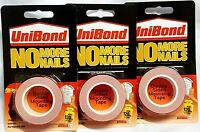 Unibond No More Nails Double Sided Permanent Mounting Tape 19mm x 1.5M - 120kg