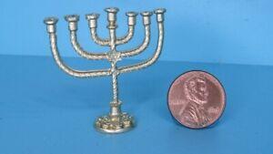Dollhouse Miniature Sabbath Gold Menorah MUL3624