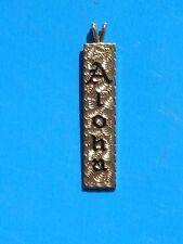 ALOHA 14 Karat Solid Gold Charm * ALOHA * in Black Enameling!