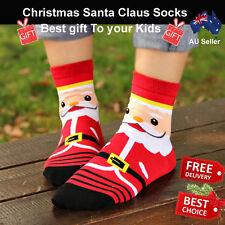 Unisex Xmas Kids Socks Christmas Socking Santa Claus Best Gift Decoration AU
