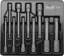 Welzh 110 mm largo impacto-RIBE Bit Socket Set -10 Piezas Pro Calidad WW 7033