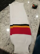 """Brand New Ak Calagry Flames Hockey Socks Pro-Weight Adult 31"""""""