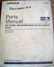 CAT Caterpillar Parts Manual AP-1055D BG-2455D MOBIL TRACK ASPHALT PAVER BXW1-Up