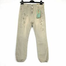SCOTCH R'BELLE Girls' Size 10/140 Adjustable Waist Striped Distressed Jeans