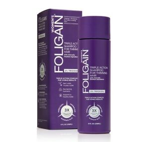 Foligain - Triple Action Shampoo for Thinning Hair for Women with 2% Trioxidil
