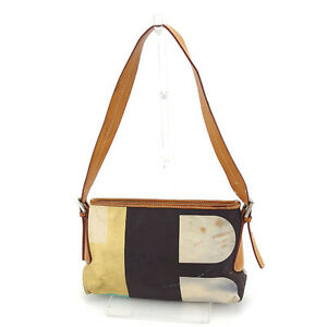 Bally Shoulder bag B logos Beige Gold Woman Authentic Used Y6111