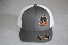 "Garcia's Guitar Wolf on a Gray / White Flex Fit Trucker ""One Size"" Grateful Dead"