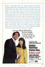 A NEW LEAF Movie POSTER 27x40 Walter Matthau Elaine May Jack Weston George Rose
