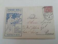 Cartolina Pubblicitaria Ambrogio Boselli Milano Merceria Donnina pubblicità