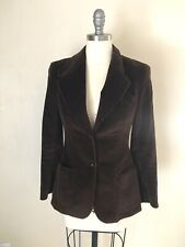 70's Vintage SIR FOR HER Women's Jacket Size S Brown Corduroy Fitted Blazer