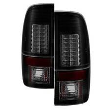 Spyder Version 2 LED Tail Lights - Black Smoke for 99-07 Ford Super Duty & More