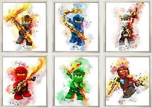 Lego Ninjago Sensei Lloyd Jay Kai 3D Wall Sticker Poster Decal Mural Room z685
