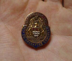 Lovely Vintage Scarborough 1954 85th Co-Operative Congress Enamel Lapel Badge