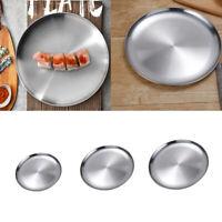 Set di 3 piatti da portata in acciaio inossidabile, piatto da portata