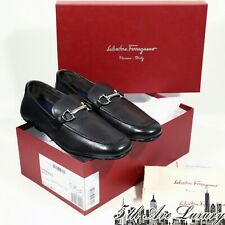 $620 NEW AUTHENTIC MEN'S SALVATORE FERRAGAMO BROWN LEATHER LOAFERS 9 43 DRIVERS