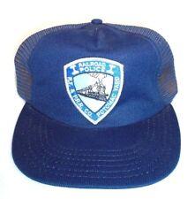 VINTAGE RAILROAD POLICE PRR POTOMAC YARD MESH TRUCKER HAT CAP