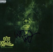 WIZ KHALIFA SIGNED ROLLING PAPERS CD RAPPER WEED TGOD TAYLOR GANG COA