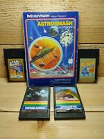 Mattel Intellivision Video Game Lot Star Wars Q Bert Astrosmash Demon Attack