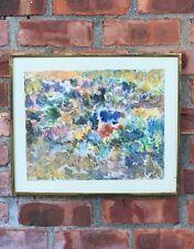 Superb 1957 Abstract Expressionist Painting . Signed Newbill. Albert J Newbill?