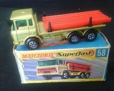 LESNEY MATCHBOX SUPERFAST DAF GIRDER TRUCK N° 58 DIECAST ANNÉES 69-70 1/64