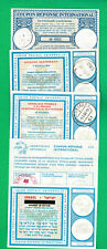 Five diff. International Reply Coupons Sweden, Israel, U.S. Germany, Austria 2