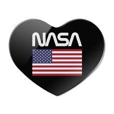 NASA Worm Logo United States Flag Heart Acrylic Fridge Refrigerator Magnet