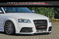 CUP Spoilerlippe für Audi A3 RS3 8PA 8P Frontspoiler Spoilerschwert Spoiler