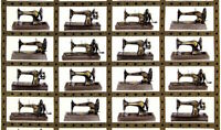RK Sewing with Singer Machines Images 100% cotton fabric by the panel 24 x44 In
