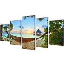 vidaXL Canvas Wall Print Set 5 Panels Wall Art Decor Painting 100x50cm/200x100cm