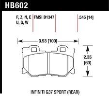 Hawk Performance HB602U.545 Unbeatable Pad And Rotor Wear Disc Brake Pads