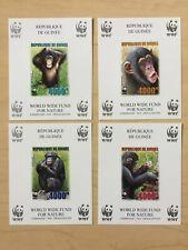 Guinea 2006 WWF Monkeys Imperf Sheets MNH