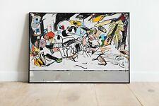 Christmas In July - Eddie Martinez Art Print, Pop Art Print, Abstract Art Print,