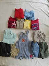 Baby Gap Boys Shorts Tops Blue Yellow Overall Clothes Lot 12 18 Months