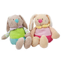 Floppy Rabbit Soft Childrens Toy Rattle Cuddly Pink Blue Easter Bunny 30cm 3+