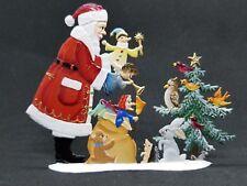 """ARTIST WILHELM SCHWEIZER GERMAN ZINNFIGUREN Playful Santa (4.5""""x 3.5"""")"""