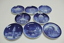 """Bing & Grondahl, Set of 9, Christmas In America, 5"""" Collector Plates,1986-1993"""