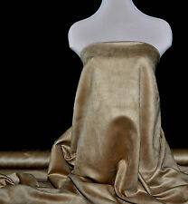 """FAUX SUEDE FABRIC 100% POLYESTER, DOUBLE FACE, SOFT 60"""" TOFFEE , CLOTHING"""