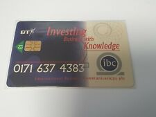 BT CHIP PHONECARD £1 IBC INTERNATIONAL BUSINESS COMMUNICATIONS PRO099 MINT