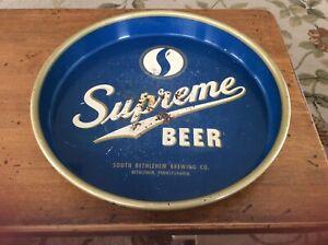 Vintage and Rare Supreme Beer Tray South Bethlehem PA