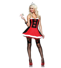 Adult Female Queen Of Hearts Red Costume Women Party Costume Large Outfit
