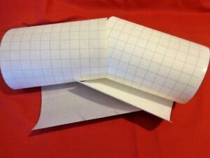 """CLEAR PVC STICK IT ADHESIVE PANEL 65cm long to make reline 20cm 8"""" lampshade"""