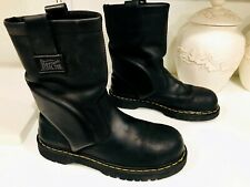 Dr. Martens Men's Size 9 Icon Industrial Steel Toe Boots Slip Resistant Leather