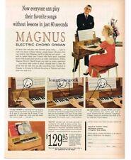 1959 MAGNUS Electric Chord Organ Vtg Print Ad