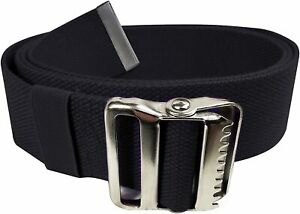 Gait Belt for Patient Transfer & Walking with Metal Buckle LiftAid Black