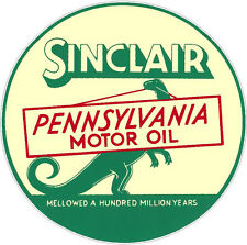 SINCLAIR MOTOR OIL VINYL STICKER (A945) 6 INCH
