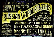 Russian Vapour Baths & Massage Brick Lane London Poster