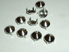 100 Kegelnieten Nieten Ziernieten Krallennieten  9,5 mm silber  NEUWARE rostfrei