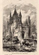 NEDERLAND HAARLEM PORTE AMSTERDAM DOOR IMAGE 1860 PRINT