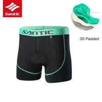Santic Men Cycling Shorts 3DPadded Bicycle Underwear Bike Breathable Undershorts